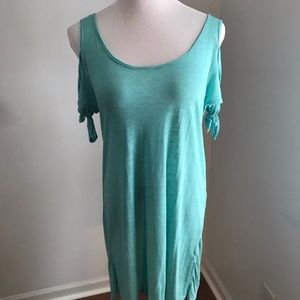 NWT Green Envelope Cold Shoulder Beach Coverup SzL